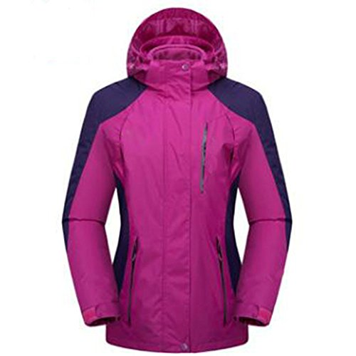 Ladies Mountaineering In Wear Di Three Aumenta Fertilizzante Large Outdoor Plus Rosa One Extra Spesso Wu Giacche Lai Velluto Età Mezza gCq4p