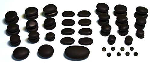 Sacral Shape (TIR Massage Stone - 59 Piece Massage Stones Set – Smooth and Natural Massage Stones (not cut) - Variety of Shapes and Sizes)