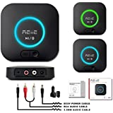 Bluetooth APT-X Hi-Fi Receiver and Audio Adapter, with 3D Surround and DSP, Low Latency for Home Music Stereo Streaming by REIIE