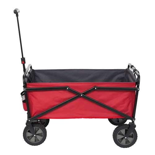 SEINA Collapsible Steel Frame Folding Utility Outdoor Garden Cart, Red ()