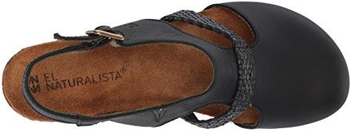 El Naturalista Women's N5035t Soft-Rafia Black/Mola Heeled Sandal Black ZvUOlpNiX