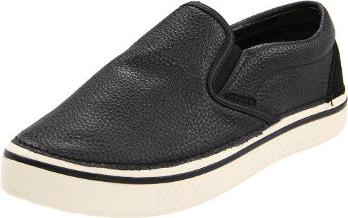 crocs Hover Slip On Leather 11755 - Zapatillas para hombre negro - Black/Stucco