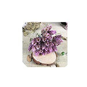 30 Heads Artificial Small Pineapple Plastic Tree Leaves Fake Flowers Wedding Home Decoration Plant Green Leaf,C 91
