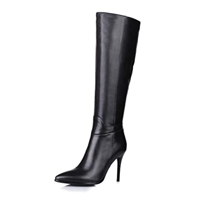 27422d691ab Amazon.com   Nine Seven Genuine Leather Women's Pointy Toe Stiletto ...