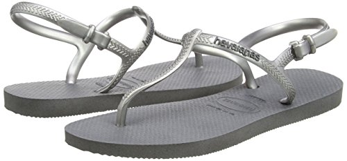 Argent Freedom Havaianas Steel Gris Femme Sandales Ftw7S