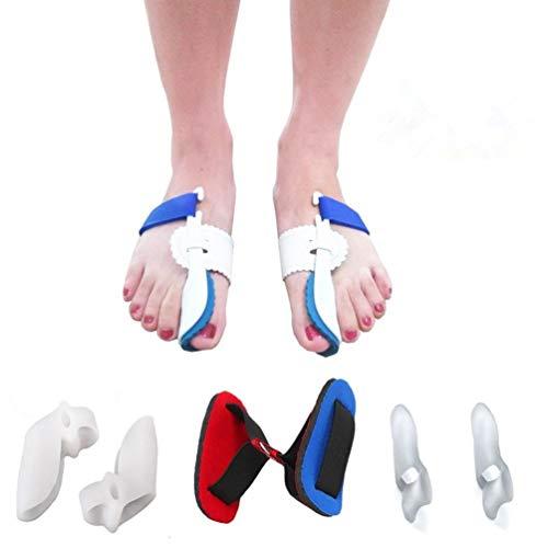 7Pcs Bunion Corrector Adjustable Splint Night Time Soft Gel for Bunion Relief, Bunion Corrector and Bunion Relief Protector Brace Kit for Big Toes, Bunion Pads, Toe Straightener, Toe Separators