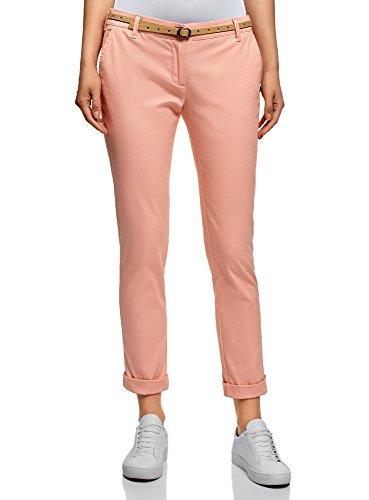 con Pantaloni Donna oodji 4b00n Chino Rosa Ultra Cintura wqHEI