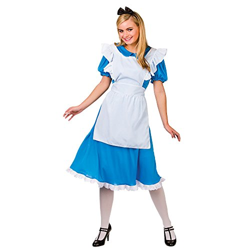 (Adults Ladies Storybook Alice Costume for Fairytale Story Book Cosplay US Size 14 - 16)