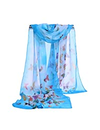 Lifetotem Cute Butterfly Print Scarf for Women Fashionable Scarves