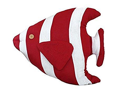 Bluestar Decorative Throw Pillows for Couch Sofa,Cute Tropical Fish Shaped Nautical Pillows,18