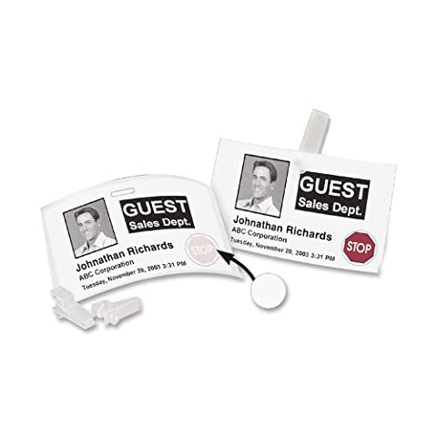 DYMO LW Name Badge Labels with 12-Hour expiration notification Disks for LabelWriter Label Printers, White, 2-1/4'' x 4'', 1 roll of 250 - 250 Badge