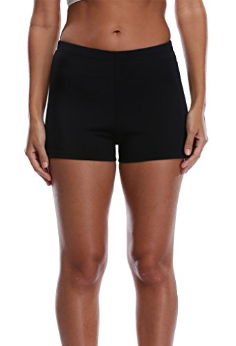 ATTRACO Women's Tummy Control Swim Short Bikini Bottom 10