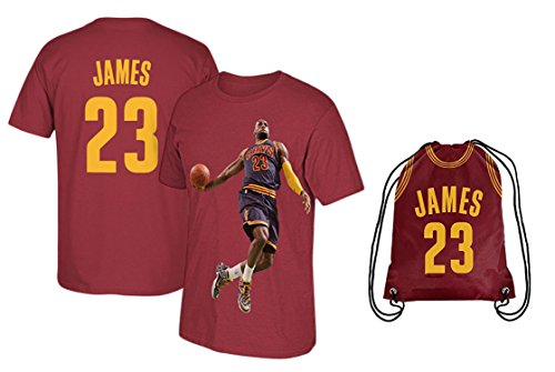 Lebron Jersey Style James T-shirt Kids Basketball James T-shirt Gift Set Youth Sizes  Premium Quality   James Basketball Backpack Gift Packaging (YS 6-8 Years Old, James)