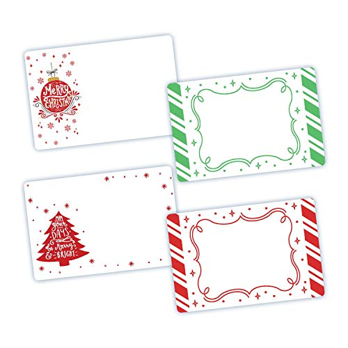 Avery Assorted Sparkle Holiday Labels, 3 x 4-1/2, 4 Designs, Handwrite, Shipping, Gift Tags, 20 Labels