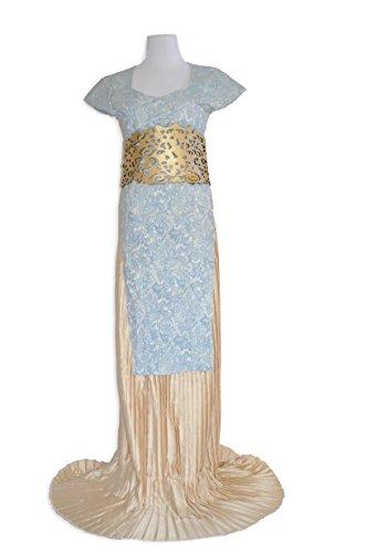 Game of Thrones Daenerys Targaryen Dragons Costume Halloween Cosplay Gown (Medium)