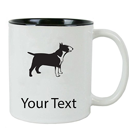 - Personalized Custom Bull Terrier 11 oz White Ceramic Coffee Mug with White Gift Box
