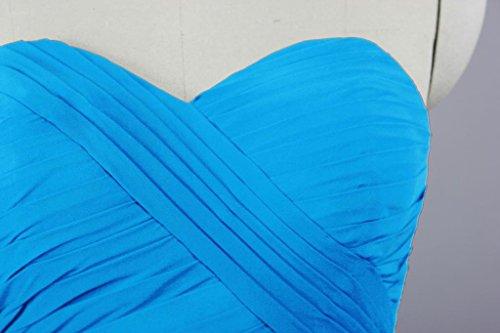 Simples Robes De Mariée En Mousseline De Soie Robe De Demoiselle D'honneur Courte De Fourmis Femmes Bleu Clair