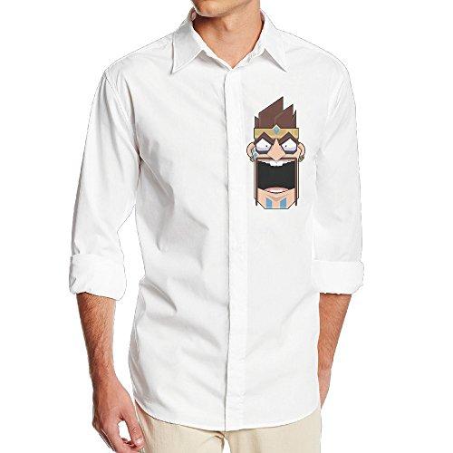 Boss-Seller Men's Classic Draven Day Long Sleeve Shirt Size XL White