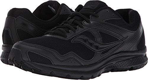 Saucony Men's Cohesion 10 Running-Shoes, Black, 10.5(2E)