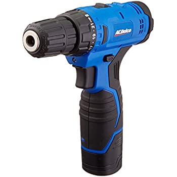 "ACDelco ARD12126P 12V Lithium-Ion Cordless 2-Speed 3/8"" Drill Driver Kit (10 Bits, Battery, Charger)"