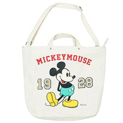 Sac fourre-tout en toile de coton couleur unie Disney Mickey Mouse