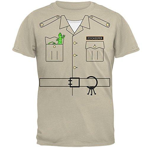 Zookeeper Halloween Costume (Halloween Zookeeper Costume Mens T Shirt Sand)