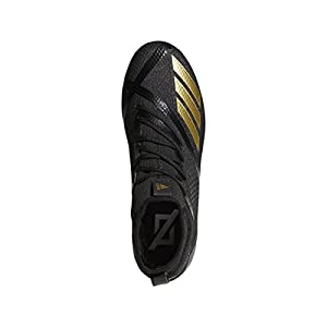 adidas Adizero 5Star 7.0 Mid Cleat Men's Football 10.5 Black-Gold Metallic