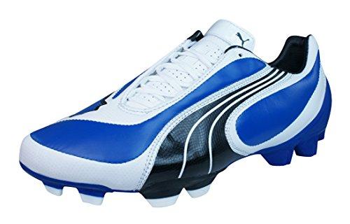Puma V3.08 i FG Hombres Botas de fútbol de cuero Blue
