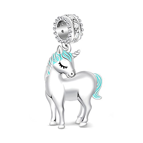 GNOCE 925 Sterling Silver Charms for Bracelets Women's Unicorn Charm Bracelets Fit Bracelets Gift for Her by GNOCE