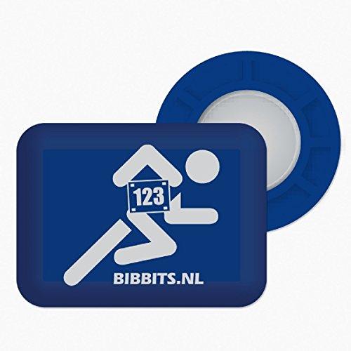 BibBits Magnetic Race Bib Holders (Runner Design) (Blue)