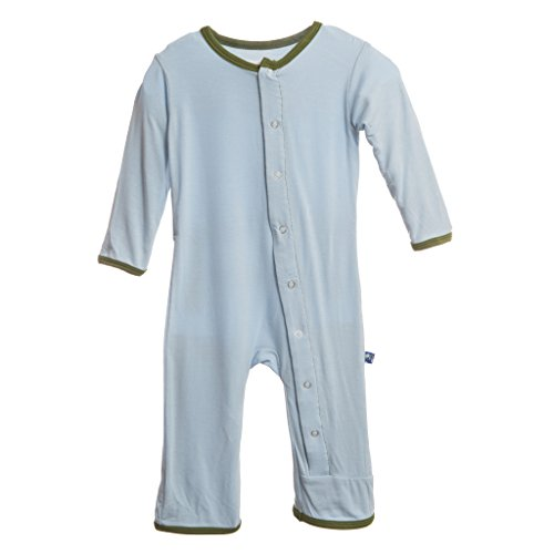 KicKee Pants Baby-Boys Applique Coverall- Pond Ant, 12-18 Months