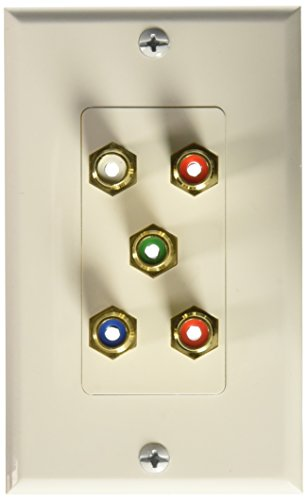 Monoprice 102999 5 RCA Component Two-Piece inset Wall Plate