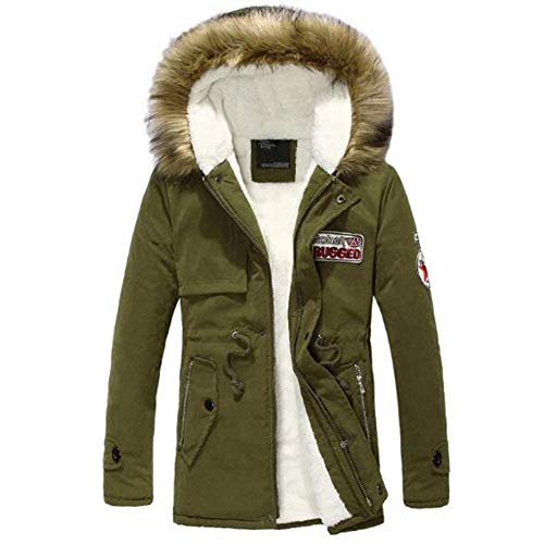 Men's Winter Cotton Jacket Softshell Outdoor Coat Apparel Jacket Hood Outwear Jacket Hooded Jacket Winter Jacket Grün