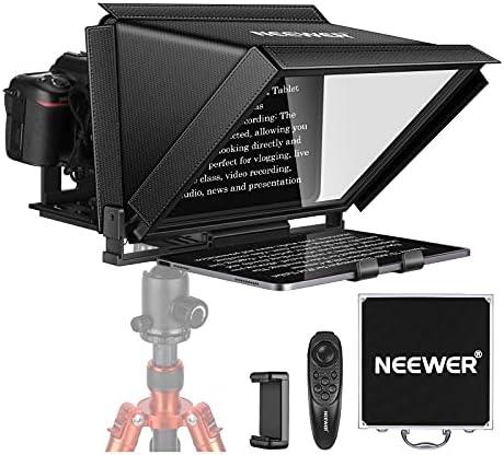 Neewer Teleprompter 12 Pulgadas para iPad, Tablet, Smartphone, Cámaras DSLR con Control Remoto, Aplicación Compatible con ISO/Android para Enseñanza en Diámetro/Vlogger/Transmisión en Vivo