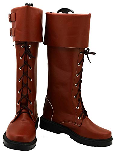 GOTEDDY Steve Boots Halloween Brown Cosplay Shoes Costume Accessories Adult -