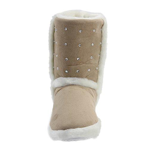 Pantofola Pantofola Indoor Donna Inverno Caldo Gohom Womens Casa 2 # Beige