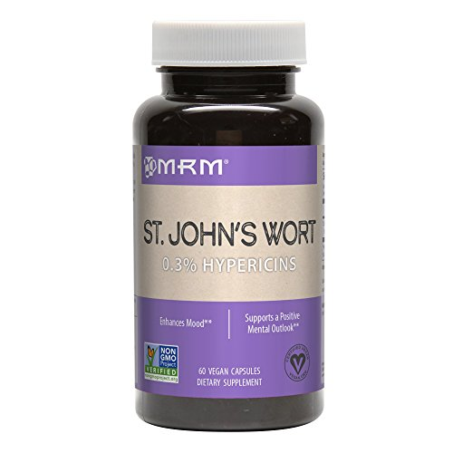 MRM St. John's Wort 0.3% Hypericin 450 Mg Vegetarian Capsules, 60 Count (Best Whole Food Multivitamin 2019)