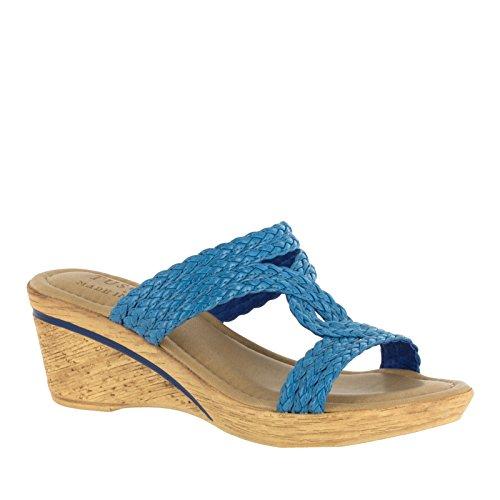 Easy Street Womens Loano Sandalo Con Zeppa Oceano