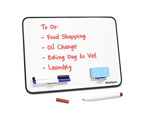 "iGuerburn 14"" x 10"" Reminder Board Dry Erase Boards Markers Whiteboard/White Board"