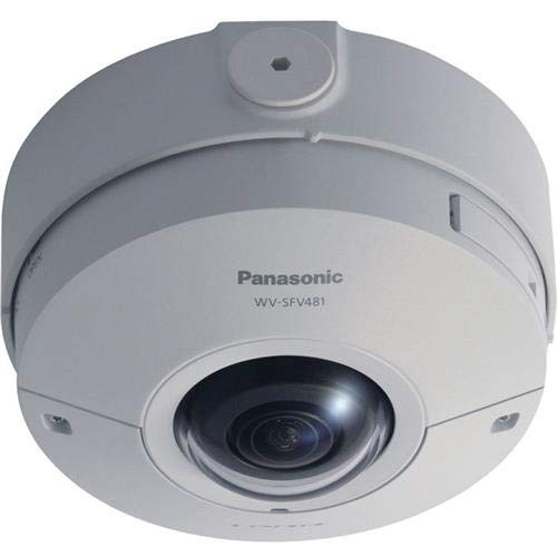 (Panasonic WV-SFV481 4K 12.4MP 360deg. Outdoor Day & Night Vandal Resistant Dome Network Camera with 1.38mm Lens, 15fps, 30fps, H.264, JPEG, PoE)