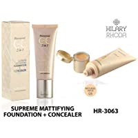 Hilary Rhoda waterproof cc cream 2 in 1 Supreme Mattifying Foundation + Concealer, for Personal- Natural Beige