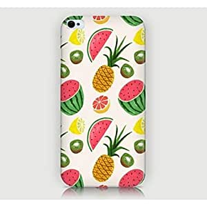 QYF Fruit Pattern Back Case for iPhone4/4S