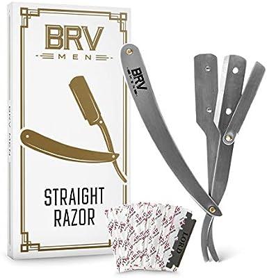 Amazon.com: Afeitadora recta | 100 cuchillas de afeitar de ...