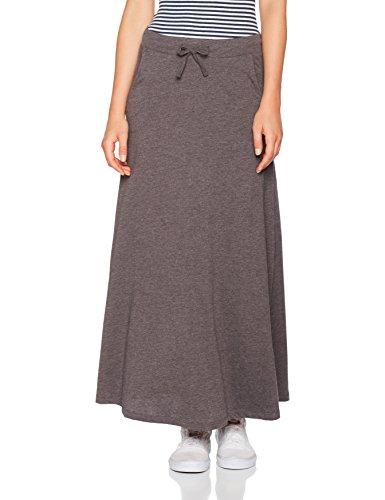 Onlmaddie Long Jupe Skirt Melange Ess Femme Dark Grey Grey Gris Dark Melange Only 6qwFAdq