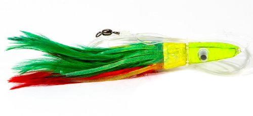 Boone Tuna Treat 6/0 Rigged Lure, Mexican Flag, 6-Inch