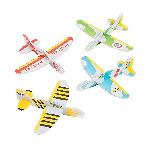 (Kicko Mini Foam Airplane Glider - 24 Pieces Colorful Flying Plane - Perfect for Indoor, Outdoor and Open-Air Activities, Game on Summer Vacation, Field Trip, Play Parks, Stocking Stuffers and)