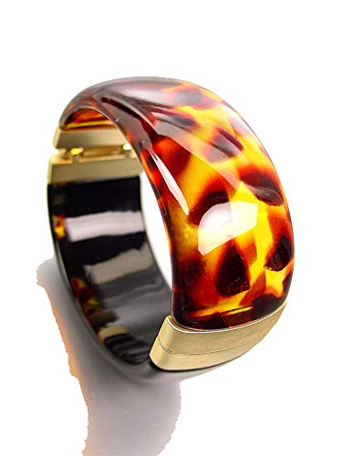 Artisanal Gorgeous Brown Tortoise Shell Black Lucite, used for sale  Delivered anywhere in USA