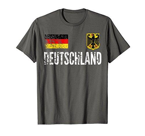 (Germany Football Jersey - Disstressed Fussball Fan T-Shirt)