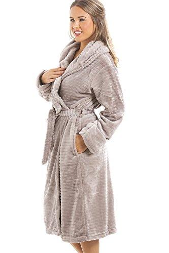 Camille - Robe de chambre - polaire douce - Gris 46/48