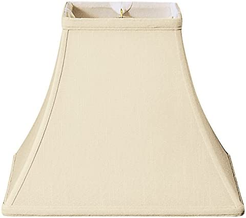 Cal Lighting SH-1003-OW Side Pleated Linen Shade 6 X 19 X12, Off White
